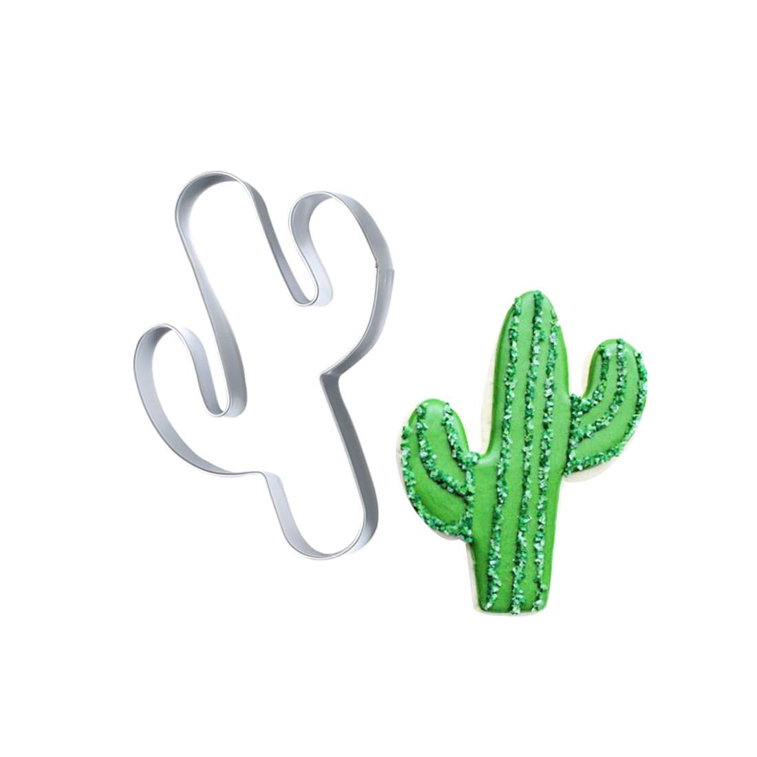 cactus shaped stainless steel cookie cutter Featured Image